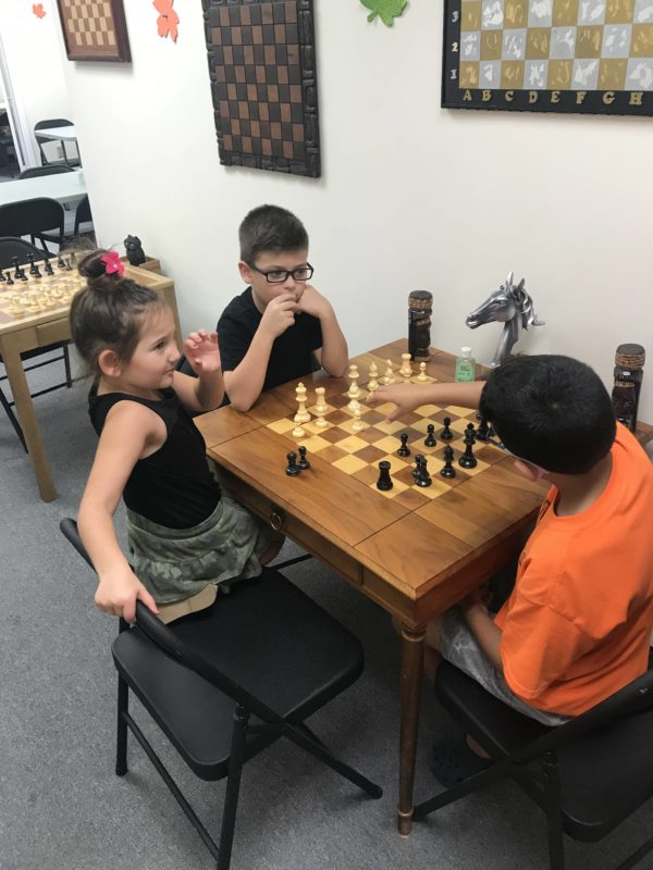 Kids Playing Chess in Pinecrest